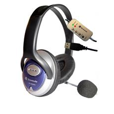 Skype Stereo ClearSound headphone with Mic. Stereofonico cuffia e auricolare