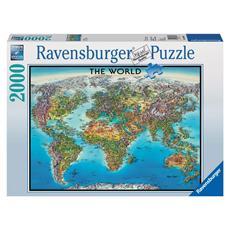 Puzzle World Map 2000 pz 98 x 75 cm 16683
