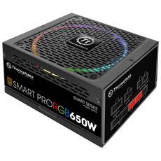 Alimentatore Smart Pro RGB 650 Watt ATX Modulare Certificazione 80 Plus Bronze Colore Nero