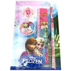 stationery set 'frozen - ' rosa (4 pezzi) - [ m6833]