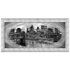 Quadro Su Tela Prince 65x135 Cm Manhattan Black Silver