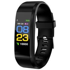 Smart Band Id115 Activity Tracker Fitness Cardiofrequenzimetro Pedometro Calorie Notifiche Nero