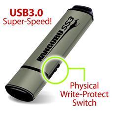 64GB SS3 USB3.0, USB 3.0 (3.1 Gen 1) , Type-A, Cuffia, Alluminio, 0 - 70 °C, 20 - 90%