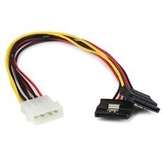 Adattatore splitter cavo di alimentazione Y LP4 a 2 SATA latching da 30 cm - Molex 4 pin a dual SATA