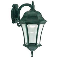 Applique in basso con vetro molato lampada da parete nero-verde
