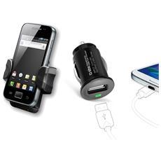 Kit mini Auto charger USB 1 A supporto universale auto