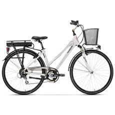 City Bike Elettrica Lombardo E-modena Donna Acera 7v Nero Bafang