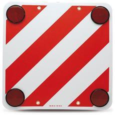 Cartello Carico Sporgente Strisce Bianco E Rosso