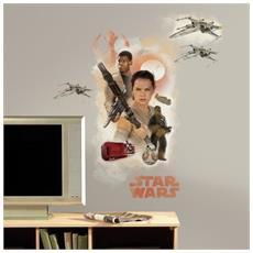 Roommates 46x 13x 2.3cm Finn & Rey Star Wars Episodio Vii Parete Riposizionabili