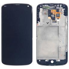 Ricambio Schermo Display Lcd + Touch Screen Unit Digitizer + Front Screen Nero Per Google Nexus 4 E960 + Kit Smontaggio