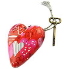 decorative oggetto 'art hearts' rosso (amore) - 10x85x35 cm - [ p1146]