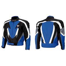 Giacca Moto Indianapolis Nero E Blu Taglia L