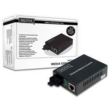 Convertitore 10/100/1000 Gigabit Media Converter Rj45 - Fibra Ottica SC 1000Base-LX