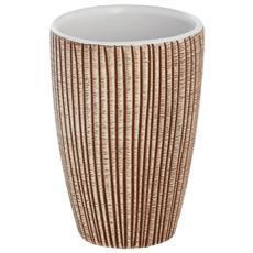 Portaspazzolino in ceramica marrone linea Kenya