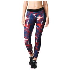 Fuseaux Donna Flower Tight S Fantasia Blu