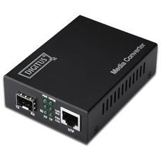 Convertitore 1000 Mbps Gigabit Media Converter Rj45 - Fibra Ottica Con Modulo Sfp
