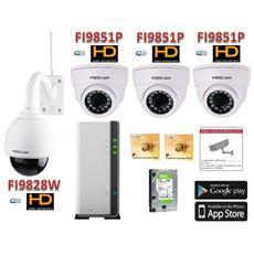 La-kit9828nvr Kit Videosorveglianza Foscam X4 Alta Definizionecon Registratore