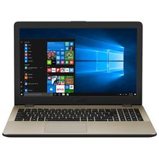 "Notebook VivoBook 15 X542UA Monitor 15.6"" HD Intel Core i5-8250U Quad Core 1.6 GHz Ram 4GB Hard Disk 500GB 1xUSB 3.1 2xUSB 3.0 Windows 10 Home"