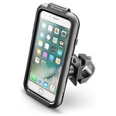 Cellularline iCase Holder - iPhone 7 Plus Supporto moto impermeabile, robusto e sicuro