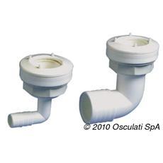 Bocchettone per Serbatoi d'Acqua Flessibili Bianco Nailon 37 mm 90° 52.196.93