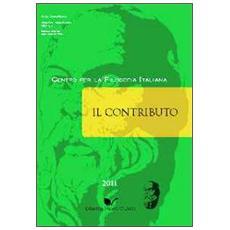 Il contributo (2011) . Vol. 1
