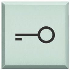 Copritasto Con Simbolo 'chiave' Per Pulsante Luminoso Bianco.