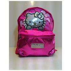 Zaino Hello Kitty Rosa Brillantini Chich - 2 Scompartimenti - 8011688360333