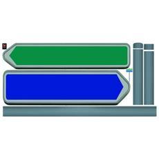 Sticker Déco Ardoise - Panneaux Directionnels1 Planche 46x100 Cm