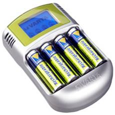 Power LCD Indoor battery charger Argento