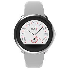 """Smartwatch Zeround Resistente all'acqua IP56 Display 1.22"""" Bluetooth con Pedometro Incluso Bianco - Italia"""