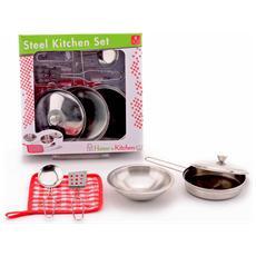 Set Da Cucina 5 Pezzi In Metallo Giocattolo Per Bambini Età 3 Anni