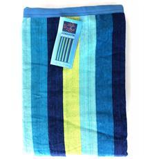 Asciugamano Telo Mare 100% Cotone Stripes Royal 90x170cm 6220491901714-578