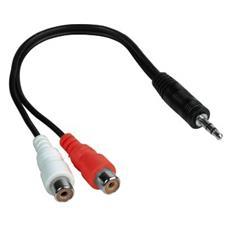 75043365 2x RCA FM 3.5mm M Nero cavo di interfaccia e adattatore