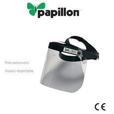 Visiera di protezione ribaltabile in policarbonato