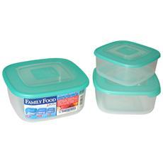 Set 3 Frigo Box Quadri Contenitori Per Alimenti
