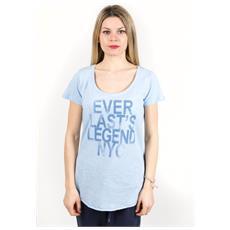 T-shirt Donna Light Jersey Azzurro Blu L