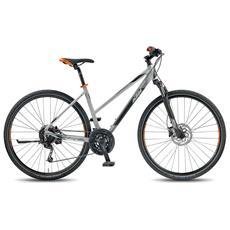 City Bike Trekking Ktm Life Road Donna 27v Deore Grigio Chiaro
