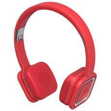 Audio On Plus, Stereofonico, Micro-USB, Padiglione auricolare, Metallico, Rosso, Cablato / NFC (Comunicazione in prossimità) / Bluetooth, Sovraurale