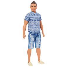 Barbie FNJ38 Fashionistas Bambola Ken Pazzo per il Denim