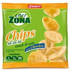 chips 40-30-30 snack di soia gusto classico 1 sacchetto da 23 g