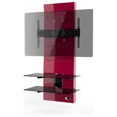 """Mobile TV Ghost Design 3000 per Schermi LED / LCD / Plasma 32-63"""" Portata Max 70 kg Colore Rosso"""