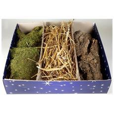 Kit Per Presepe Muschio + Paglia + Sughero