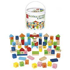 DNG53858 Blocks - Lettere & Numeri - 75 Pezzi