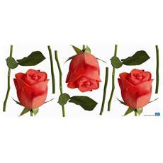 Sticker Déco - Bouton De Rose1 Planche 46x100 Cm