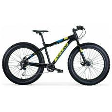 """Fat Bike B-rider Blackmamba Da Uomo Di Mbm Con Telaio In Alluminio Da 44 Cm, Ruote Da 26"""""""" E Freni A Disco Idraulici"""