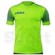 Maglia Praga M / c Verde Fl-blu Chiaro Calcio Adulto Taglia M
