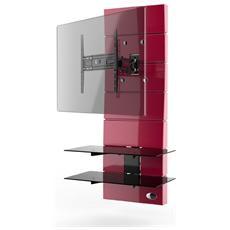 """Mobile TV Ghost Design 3000 Rotation per Schermi LED / LCD / Plasma 32-63"""" Portata Max 30 kg Colore Rosso"""