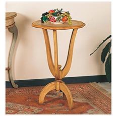 Tavolino Porta Vasi In Legno Diam. 48 H74