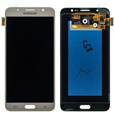 Ricambio Schermo Display Originale Lcd + Touch Screen Unit Digitizer Gold Per Galaxy J7 2016 Sm-j710 + Kit Attrezzi Smontaggio