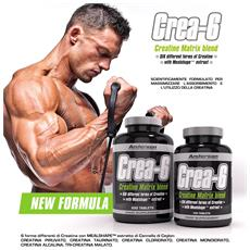 Crea-6 Creatine Matrix Blend 200 Tablets 6 Tipi Diversi Di Creatina Crea6